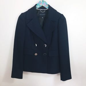 Banana Republic Navy Blue Winter Career Blazer